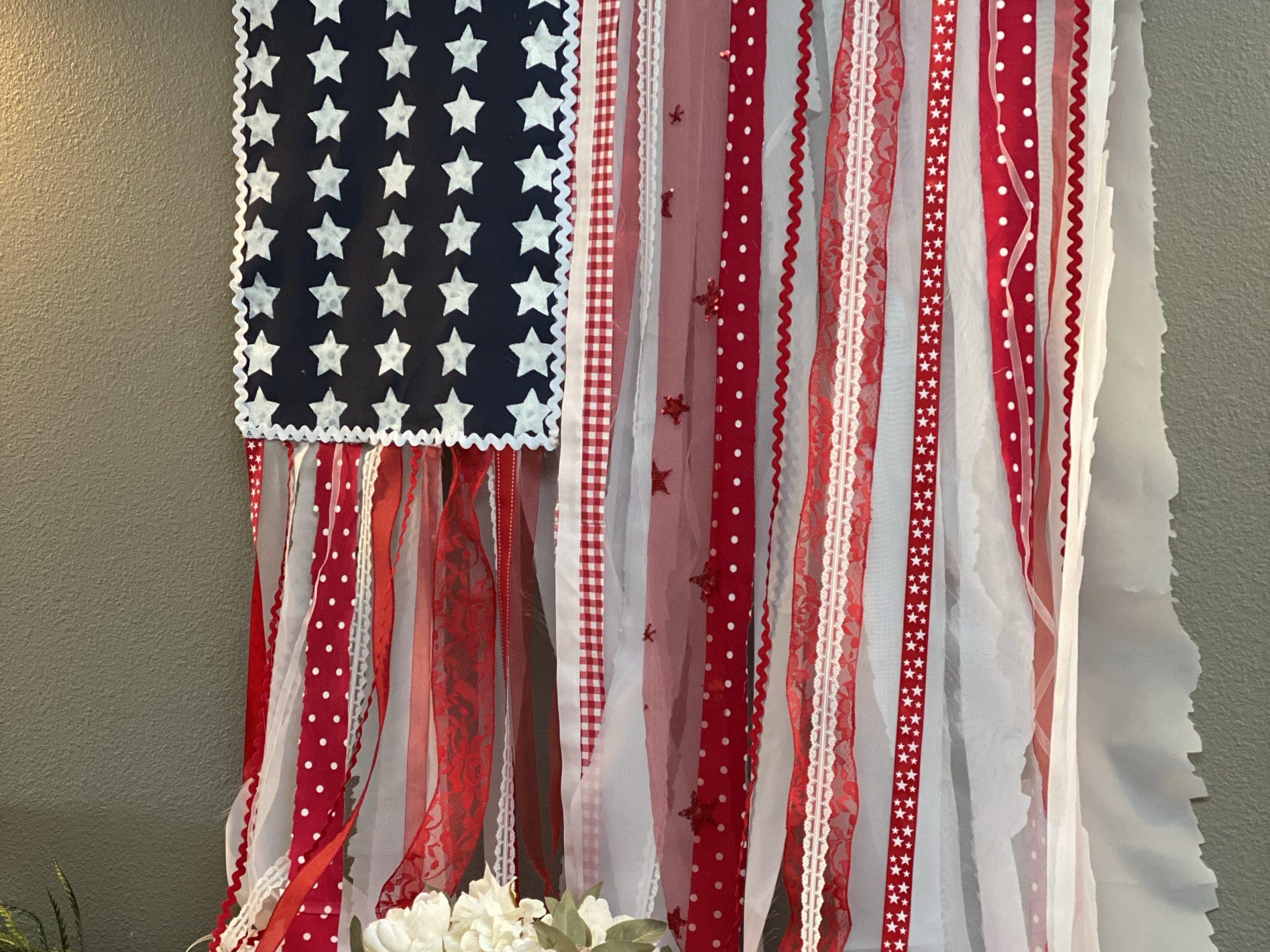 no sew DIY boho americana flag