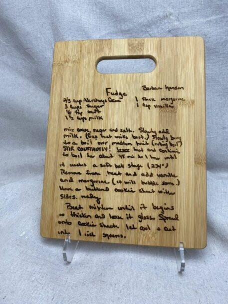 6x9 personalized bamboo cutting board
