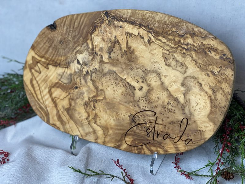 13.5 Olivewood board to be personalized engraved
