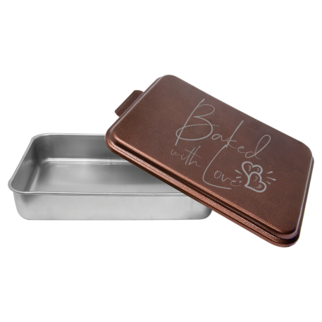 Baked with Love Engraved pan with lid