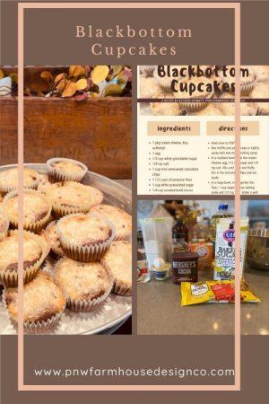 cream cheese and chocolate blackbottom cupcakes