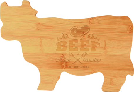personalized bamboo cow