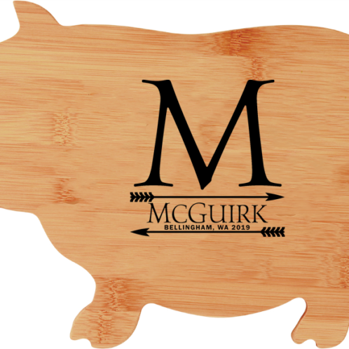 personalized bamboo pig