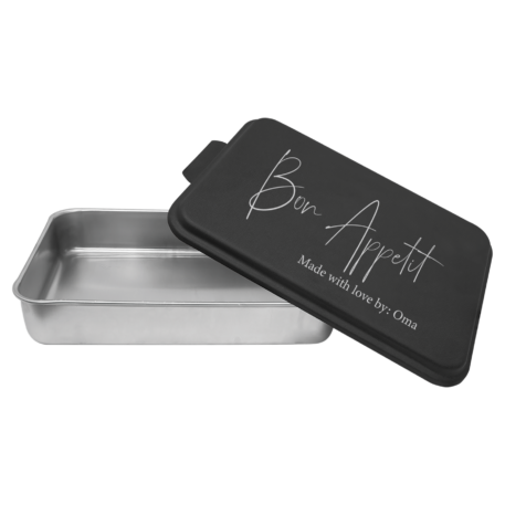 Bon Appetit engraved pan with lid