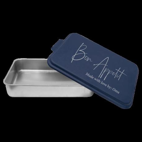Bon Appetit Engraved Aluminum Cake pan + Lid