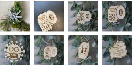 2020 birch wood covid pandemic humorous ornaments