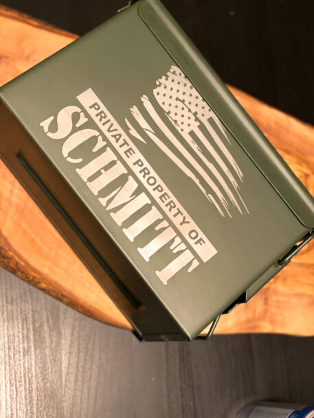 Metal Ammo can that is personalized